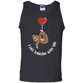 Valentine's Day Sloth Gift  Teenage Girls Couples Tween Tank Top