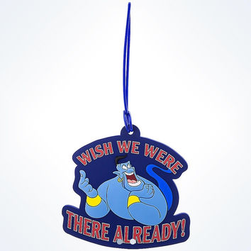 disney parks aladdin genie luggage tag wish we were there already new with tags