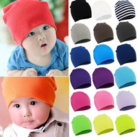[S.Y.C] New Spring Autumn Winter Cotton Baby Hat Girl Boy Toddler Infant Kids Caps Brand Candy Color Lovely Baby Beanies Accessories = 1958713668