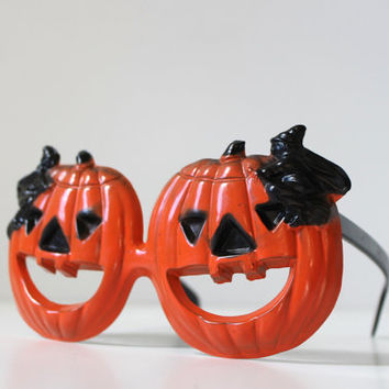 1960's Foster Grant Halloween Glasses, Halloween Pumpkins, Witches, Jack O' Lanterns, Vintage Halloween Costume, Halloween Decor