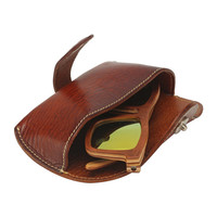 Handmade Leather Eyeglasses Holder Sunglasses Hard Case