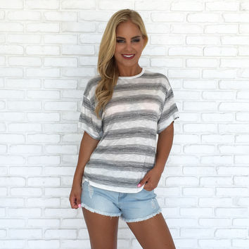 Girl Next Door Stripe Tee