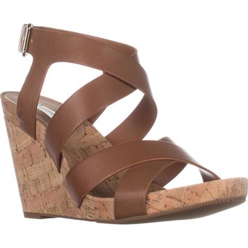 I35 Landor Wedge Sandals, Golden Cognac, 9.5 US