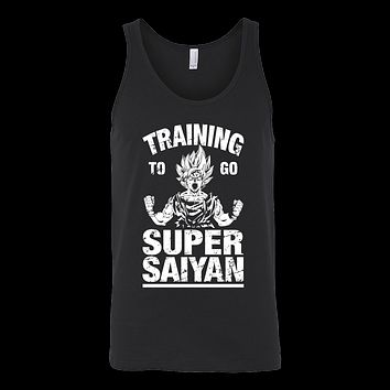 Super Saiyan - TRAINING TO GO SUPER SAIYAN - Unisex Tank Top T Shirt - TL01109TT