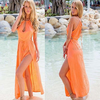 Sexy Women Summer Boho Maxi Evening Party Dress Beach Dress Sundress Mini Dress = 4904733316