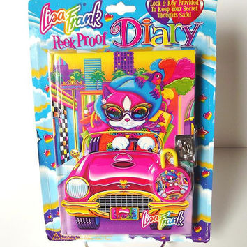 Lisa Frank Peek Proof Diary CAT Vintage 90's NIP