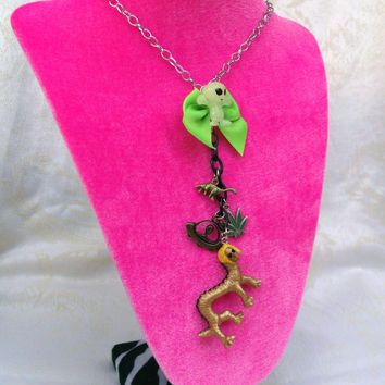 Twisted Beetlejuice Monster Necklace by hobbittownjewelry on Etsy