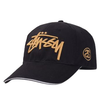 Black Fashion Stussy Baseball Cap Hat