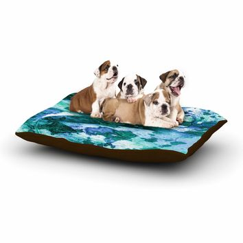 "Ebi Emporium ""Color Blots 5"" Green Blue Painting Dog Bed"