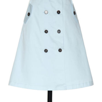 Leave an Impression Skirt in Sky Blue