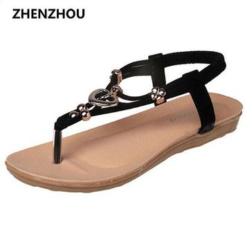 Free shipping !! summer 2016 Flip Flops Women's shoes Bohemian girl sandal thong bead