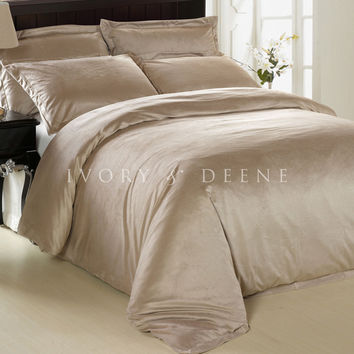 Luxury Mocha Latte Sand Fur Doona Cover