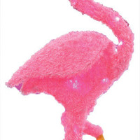 "Christmas Decoration: 36"" Flamingo with Lights"