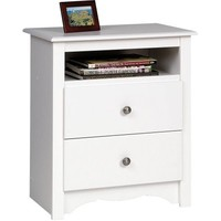 Monterey Tall 2-Drawer Nightstand with Open Shelf - Walmart.com