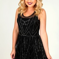 Shimmer & Shake Dress: Black - Party - Dresses - Hope's Boutique
