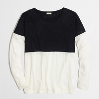 Factory colorblock drop-shoulder tee : long sleeve | J.Crew Factory