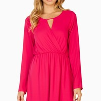 ShopSosie Style : Rashel Dress in Fuchsia