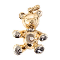 CHOPARD Happy Diamond and Gold Teddy Bear Charm/Pendant