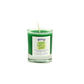 Money Soy Glass Votive Candle