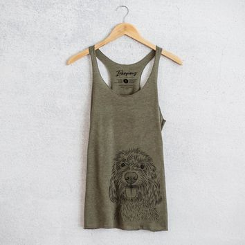 Clover the Cockapoo - Tri-Blend Racerback Tank Top