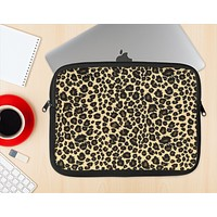 The Small Vector Cheetah Animal Print Ink-Fuzed NeoPrene MacBook Laptop Sleeve
