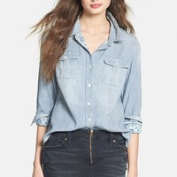 Lucky Brand 'Jane' Stripe Double Weave Cotton Shirt   Nordstrom