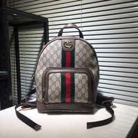 GUCCI WOMEN'S GG SUPREME CANVAS OPHIDIA BACKPACK BAG-KUYOU