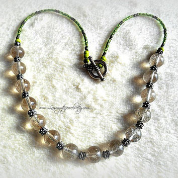 Beaded Lodalite Necklace Direct Checkout Beaded Jewelry Woman Jewelry