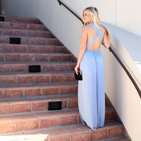 Always Your Girl Maxi Dress In Powder Blue