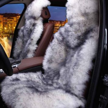 Full Lit Fluffy Seat Covers Colors Avail
