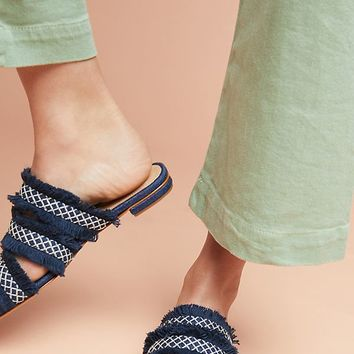 Schutz Jacqueilla Denim Slide Sandals