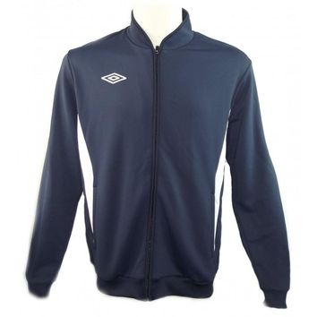 Umbro Men's Navy Athletic Sleeve Football Soccer Adult Fleece Jacket Sz L
