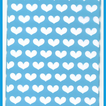 CELLO Bags BLUE Hearts 5 x 8 Cellophane Gift Bag 20 Total