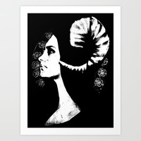 The White Faced Woman Art Print by Karl Wilson Photography