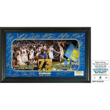 Golden State Warriors 73 Win Record Signature Celebration Framed Photo