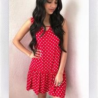 WARM MY HEART DRESS- RED POLKA DOT from shopoceansoul