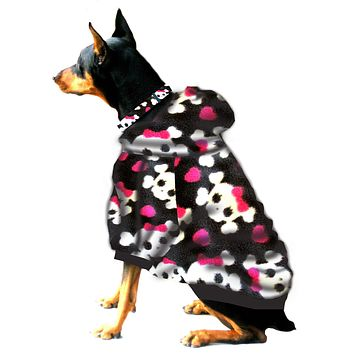 Boxer/Doberman Hoodie Sweatshirt - Fits 56 to 110 LB Dog - Over 20 Patterns to Choose From!