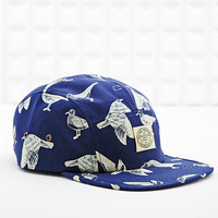 Obey Gulls 5 Panel Cap in Navy - Urban Outfitters