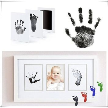 Extra-Large Newborn Baby Handprint or Footprint  Inkless-Touch Ink Pad 100% Non-Toxic