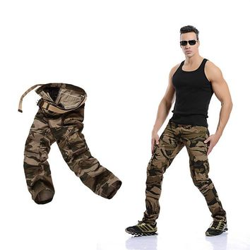 Plus Size Outdoors Camouflage Casual With Pocket Pants [6581569735]