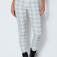 New Mood Pants Khaki Checked Print
