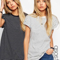 ASOS TALL The Easy T-Shirt in Stripe 2 Pack Save 15% at asos.com