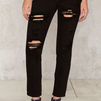 Glamorous Never Say Never Destroyed Jeans