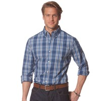 Chaps Overbrook Plaid Modern-Fit Button-Down Shirt