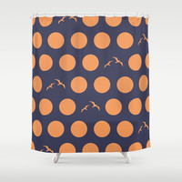 Polka Dot Bird V.3 Shower Curtain by C Designz