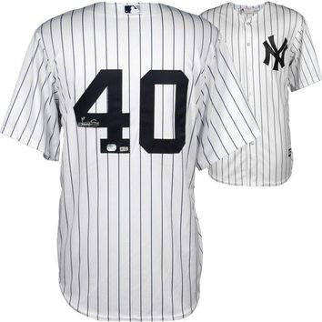 ONETOW Luis Severino Signed Autographed New York Yankees Baseball Jersey (MLB Authenticated)