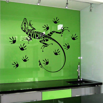 Wall Decal Lizard Reptile Paws Animals Decals Bathroom Home Decor Sticker MR20