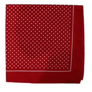 Free Shipping 2018 New Fashionable Cotton Red White Polka Dotted Bandanas For Women Mens