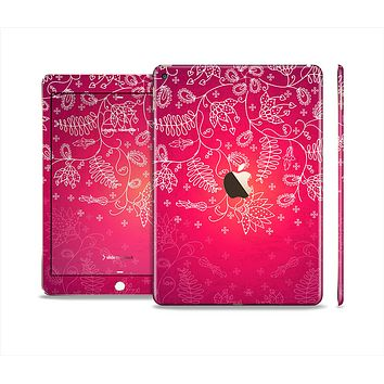 The Glowing Pink & White Lace Skin Set for the Apple iPad Pro