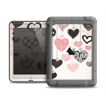 The Hanging Styled-Hearts Apple iPad Air LifeProof Fre Case Skin Set